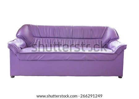 sofa furniture isolated on white background - stock photo