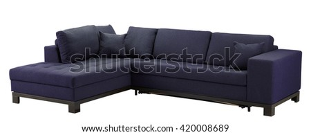 Sofa furniture isolated on white background. Include clipping path. - stock photo
