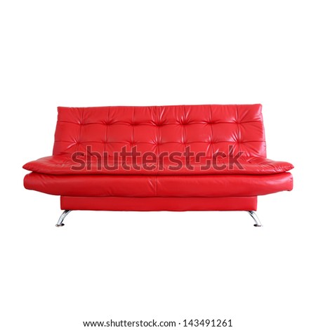 sofa furniture isolated on white background with cliping path - stock photo