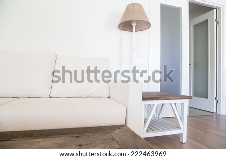 sofa in a living room - stock photo