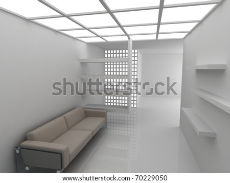 Sofa in modern rest room