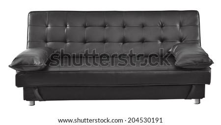 Sofa isolated against white background. - stock photo
