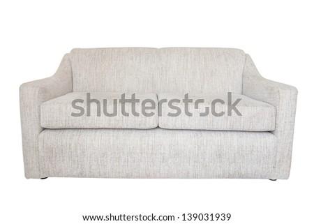 sofa isolated, furniture  on white background - stock photo