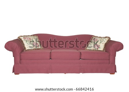 sofa isolated on white - stock photo