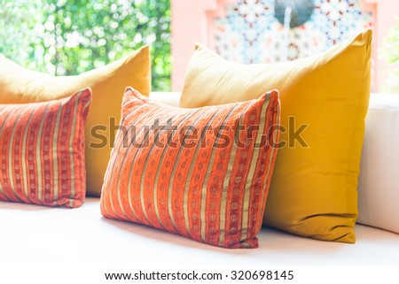 Sofa pillow decoration in living room