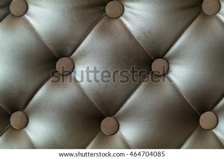 Sofa seat texture with button vintage style leather texture