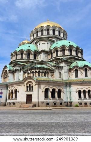 Sofia, Bulgaria - Alexander Nevsky Orthodox Cathedral. Neo-Byzantine architecture. - stock photo