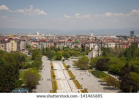 SOFIA, BULGARIA - APRIL 30: View over city of Sofia, the capital of Bulgaria. In Sofia, Bulgaria on April 30, 2013