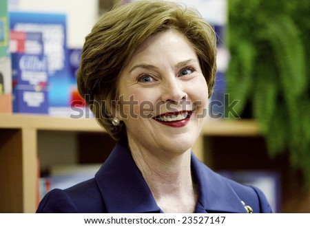 SOFIA, BULGARIA - JUNE 11: Former first lady Laura Bush visiting Sofia, Bulgaria on June 11, 2007.
