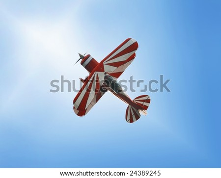 SOFIA, BULGARIA - SEPTEMBER 28: A bi-plane performs at an air show in Sofia, Bulgaria on September 28, 2008.