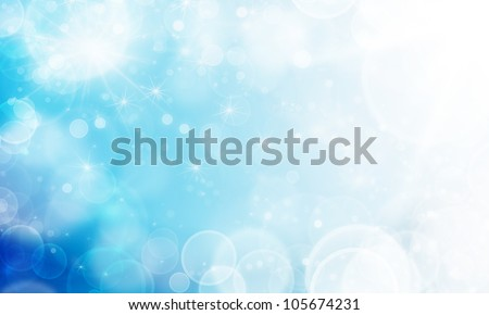 soft abstract light blue color background with bokeh - stock photo