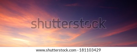 Soft and colorful sunset sky - stock photo