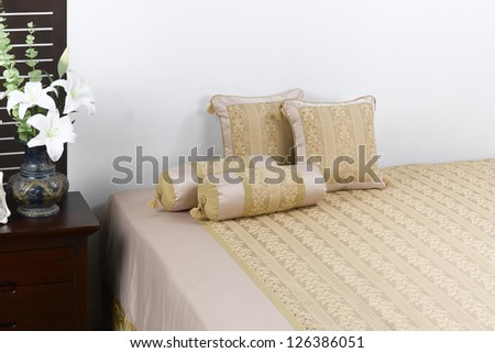Soft and comfort blanket in a nice interior bedroom