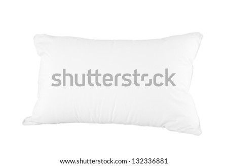 Soft and hygiene pillow great for your bedroom isolated on white