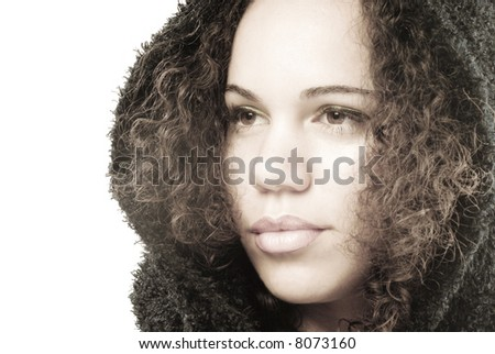 Soft and luminous portrait - stock photo