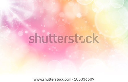 soft background abstract texture with lights cycle bokeh and stars - stock photo