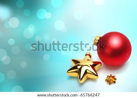 soft background with christmas ball