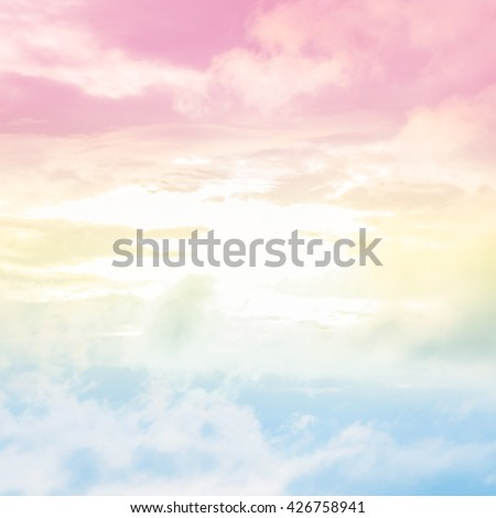 Soft blurred of cloud background with a pastel color style. - stock photo