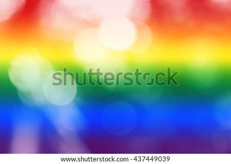 Soft blurred rainbow background with natural bokeh. (LGBT Movement) Abstract gradient desktop wallpaper or presentation many projects. - stock photo