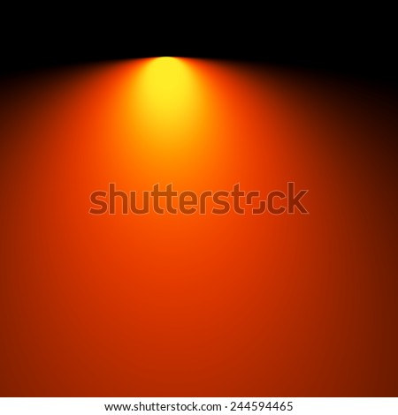 Soft Blurred Rays of Light Background - Electric Lighting Effect - Simple Business Card Template - Watt Lightbulb Illuminated - Stage Spotlight Lamp Beam - Digital Backdrop Yellow Orange - Show - stock photo