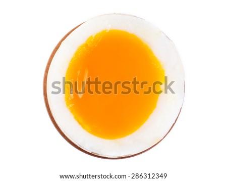 Soft-boiled egg - stock photo