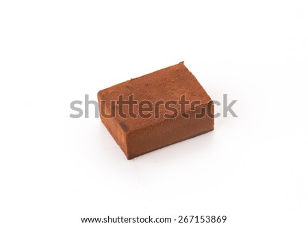 soft chocolate on white background