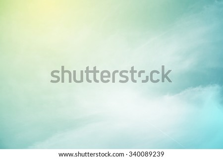 soft cloud background with a pastel color   - stock photo