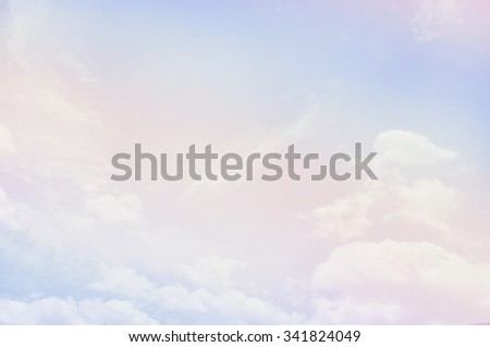 soft cloud background with a pastel multicolored gradient - stock photo