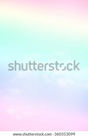 soft cloud background with a pastel multicolored gradient