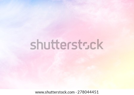 soft cloud background with a pastel multicolored gradient with bokeh - stock photo