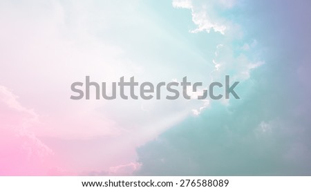 Soft cloud background with fill pastel color - stock photo
