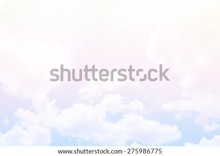 soft cloud background with pastel multi-colored gradient - stock photo