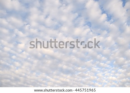soft  cloud on blue sky