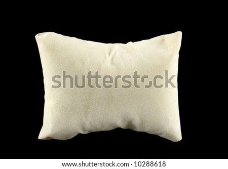 Soft comfortable pillow used for sleeping on. - stock photo