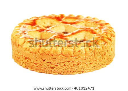 Soft Cookie With Apple Paste - stock photo