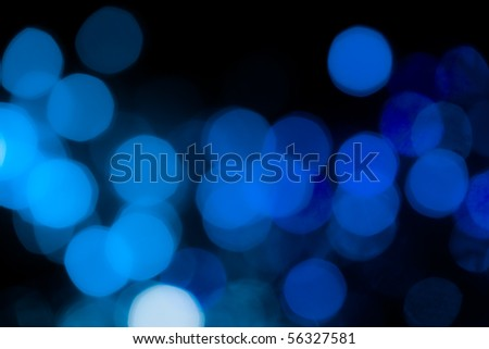 Soft de-focused blue lights background - stock photo