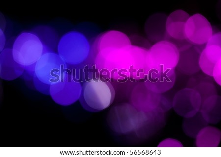 Soft de-focused blue lights background - stock photo