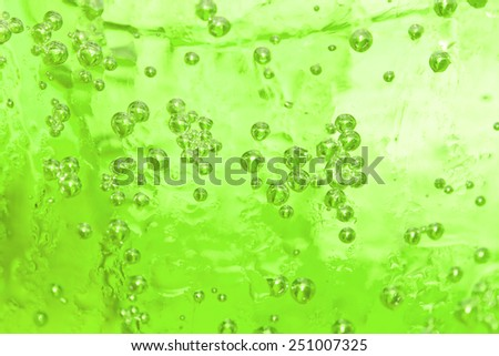 Soft drinks in a glass with ice for a refreshing drink - stock photo