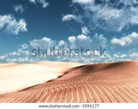 soft dunes - stock photo