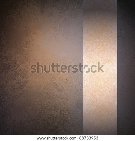 soft faded peach and purple background with warm brown color and vintage grunge texture has ribbon layout design with copy space for cover or announcement - stock photo