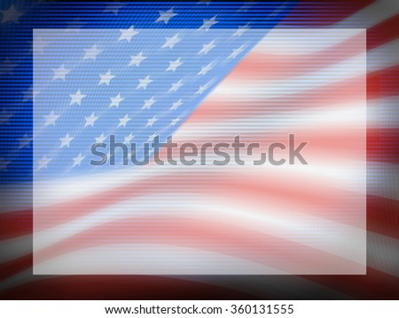Soft Focus Abstract Image of American Flag as a Power Point Presentation Background Template - stock photo