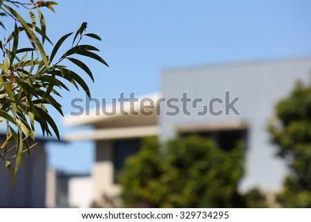 Soft Focus Apartment Building 2 - stock photo