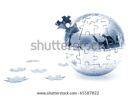 Soft focus Global Business concept studio shot