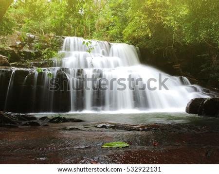 beautiful soft waterfall in - photo #25
