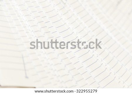 soft focus of answers sheet for thailand students - stock photo