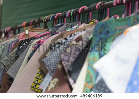soft focus of clothes hanger