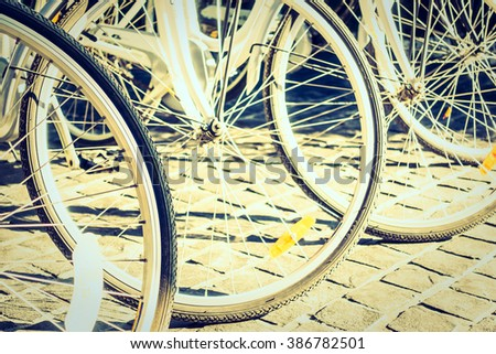 Soft focus point on Bicycle wheel - Vintage Film filter