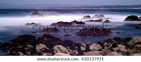 Soft focus slow shutter speed Monterey Bay California