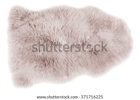 Soft fur carpet isolated on white background - stock photo
