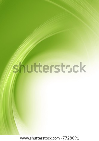 Soft Green - Background Illustration with High detail - stock photo